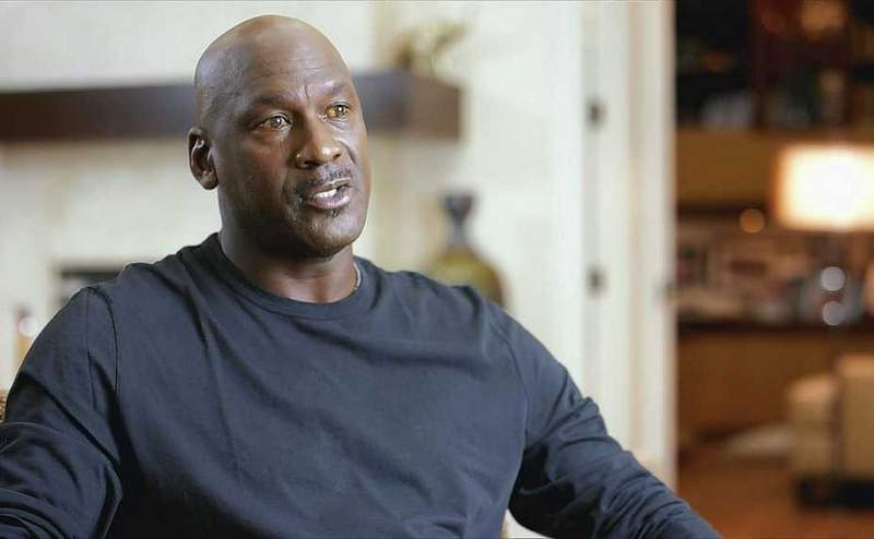 "Michael Jordan is interviewed for ""The Last Dance,"" which debuts Sunday on ESPN."
