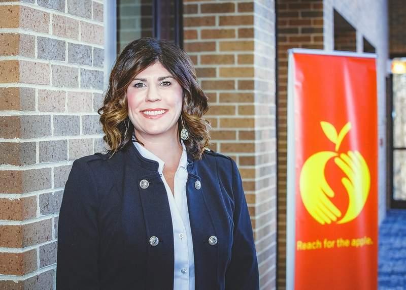 East Side Intermediate School Principal Natalie Fry, winner of the 2020 Golden Apple Award for Excellence in Leadership.