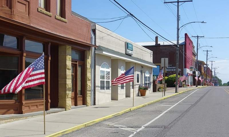 Flag Day in Chester is celebrated with American flags lining the streets through town.