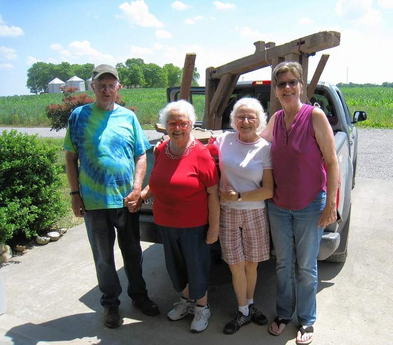 From left, Amos and Linda Chenoweth, Nancy Lodwig and Christy Short.
