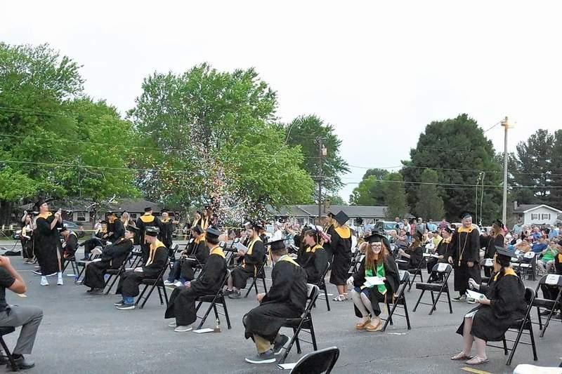 Goreville graduates celebrate their official commencement ceremony last week.