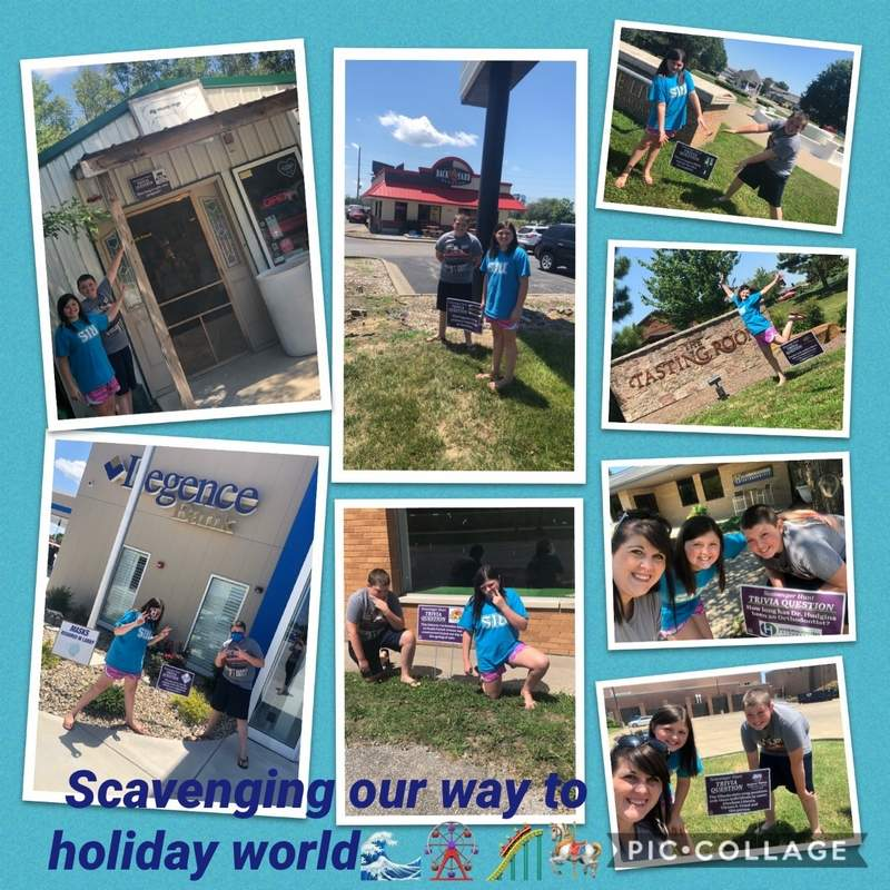 Cassie, Lucy, and Cameron Gossett spent a few hours completing last week's Marion Republican scavenger hunt and created this collage to commemorate their adventure.