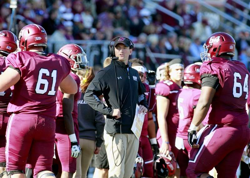 SIU head football coach and former Du Quoin High School standout Nick Hill met with the media Saturday. One topic of discussion for Hill was moving the IHSA football season to the spring and how that will affect his in-state recruiting.