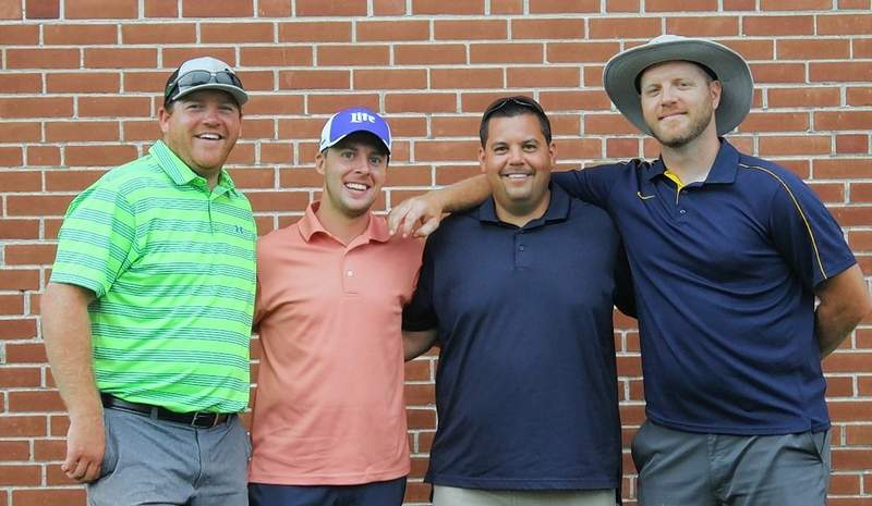 From left, the A Flight winners are Aaron Halstead, Tyler Search, Chris Toledo and Brendan Madsen.