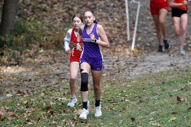 Harrisburg's Aubrey Pullum qualified for Saturday's sectional in Belleville after finishing 28th overall with a time of 23:48 at the Hamilton County 1A Regional.