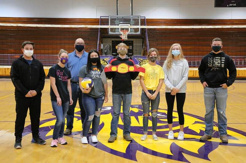 Members of Manier's White Knights are, from left, Kaden Shaw, Honey Rose, Coach Manier, Macie Zertuche, Ty Sumner, Kaylee Smith, Laney Rister and Lane Boaz.