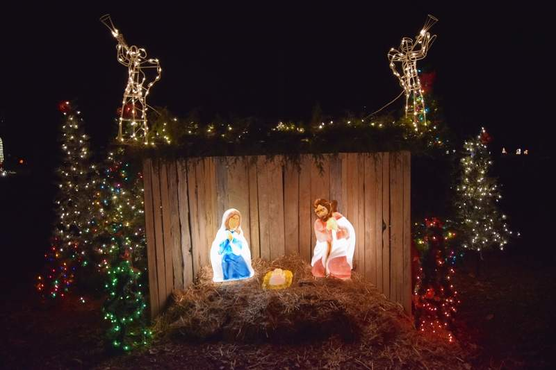 One of several Nativity displays at Ridgway Park.
