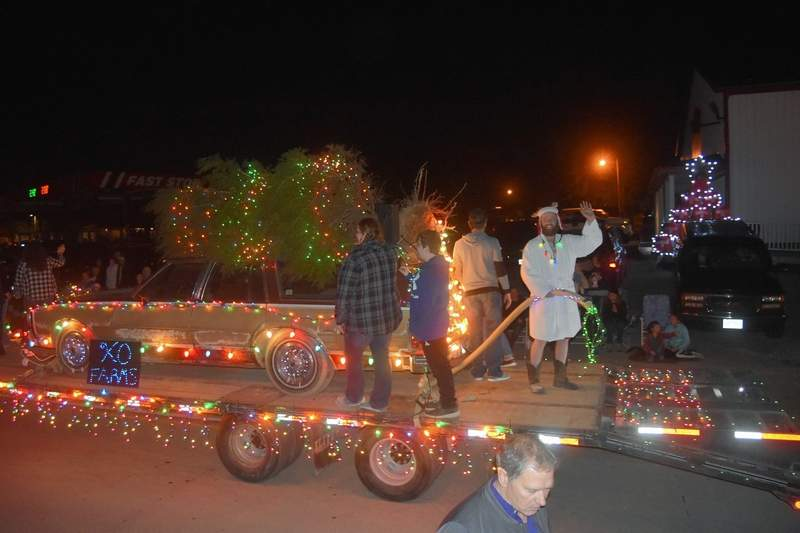 KO Farms' Christmas Vacation-themed float drew laughs of appreciation from the crowd.
