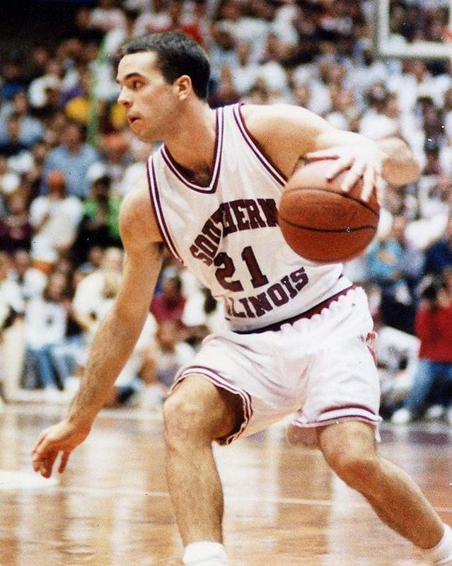 Pinckneyville native and Carterville head coach Shane Hawkins was a player for the SIU Salukis, under Rich Herrin, from 1994-1995 and 1997-1998