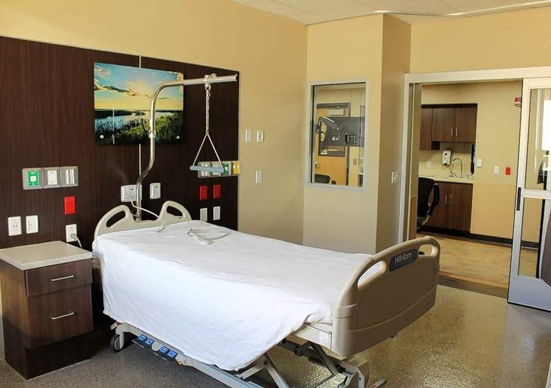 A private room in the new medical-surgical unit.