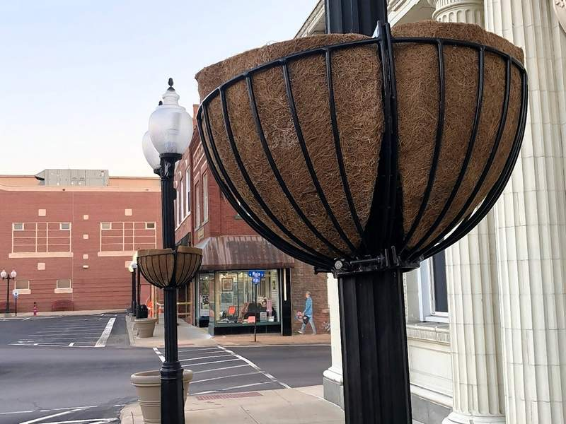 The City has purchased several of these planters, which are being installed by Landscapes by Sollers. Chris Sollers is donating the plants.
