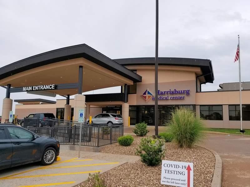 Harrisburg Medical Center's main entrance.