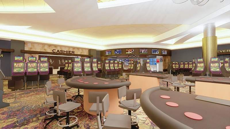 An updated artist's renderings of the Walker's Bluff Casino Resort project, now granted a preliminary license to proceed by the Illinois Gaming Board.