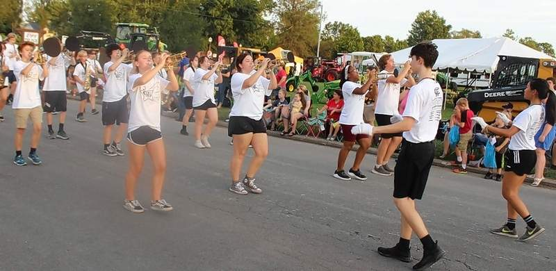 The Marching Terriers of Carbondale High School join the parade.