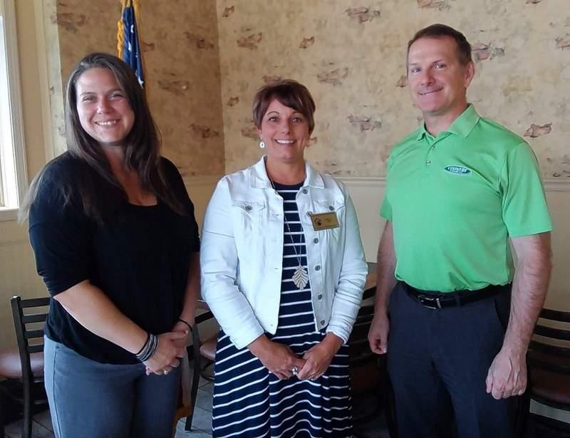 From left, Kiwanis President Melinda Dovell, Paula Joy and program sponsor David Morse.
