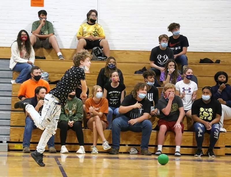 Freshman Logan Daughenbaugh looks to eliminate a senior in the Championship game.