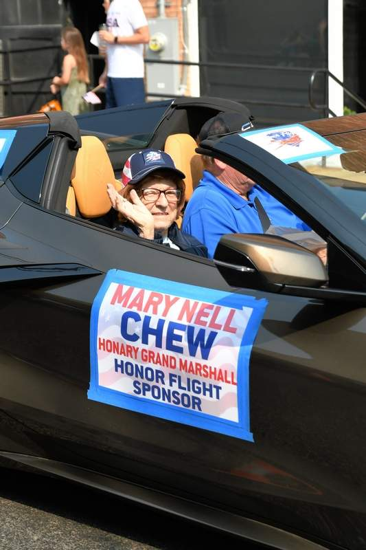 Mary Chew, who funded Honor Flight 5, was the Grand Marshal for the 17th Annual Veterans on Parade.