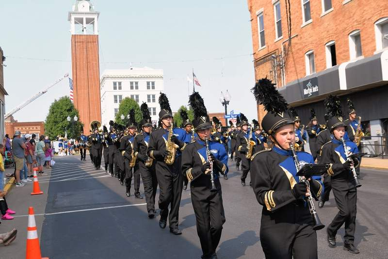 THe Marching Wildcats were one of four bands that marched the Veterans on Parade on Saturday.