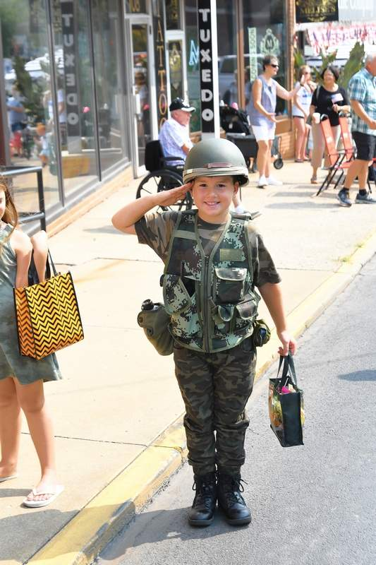 Billy Jones of Marion was one of several hundred that turned out for the Veterans on Parade Saturday. See more photos on page 3.