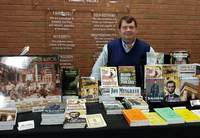 At the most recent Heritage Fest in 2019, local author Jon Musgrave displayed had a booth with his books.